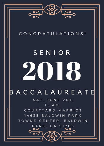 Senior Class you are ALL invited